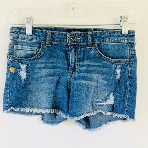 Lucky Brand Riley Distressed Denim Shorts
